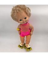 Vintage 1982 Mattel Baby Skates Doll Roller Works 1980s Wind Up Toy GM - $17.95