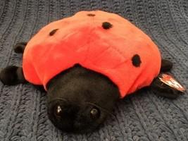 "TY 1999 LARGE Beanie BUDDY Plush 10"" Ladybug LUCKY MWMT - $11.87"
