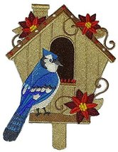 Custom and Unique,Amazing Birdhouse[Blue Jay With Bird House] Embroidere... - $16.82