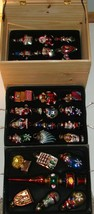 VTG THOMAS PACCONI MUSEUM HAND BLOWN GLASS ASSORTED 31 ORNAMENTS W/ CRATE - $49.49