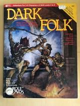 "Advanced Dungeon and Dragons Role Aids 1983 Mayfair Games ""Dark Folk"" 707 - $31.19"