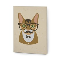 Hipster Animals Pictures Canvas Wall Art Painting Prints Brown Cat - $14.95+