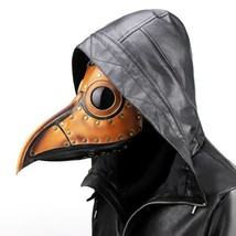 Plague Doctor Steampunk Bird Leather Halloween Party Mask Beak Costume C... - £46.35 GBP