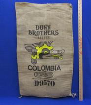 Burlap Gunny Sack Bag Dunn Bro Brothers Colombia Decaf Dog Head Tribal D... - $12.86