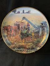 Danbury Mint Golden Harvest Plate Farmland Memories Collection - $44.99