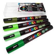 Uni POSCA - PC-3M Art Marker Paint Pens - 4 Pack Wallet - Green Tones - $13.55