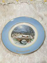 Avon 1979 Christmas Plate Series Dashing Through The Snow Enoch Wedgwood England image 3