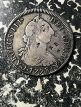 1778-PR Bolivia 4 Reales Lot#JM1074 Silver! Scarce! Chopmarked - $187.00