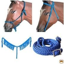 Hilason Horse Headstall Breast Collar Halter Reins Tack Braided Paracord... - $69.25