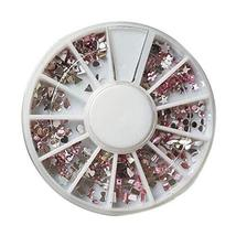 Set of 5 Nail Art Manicure Wheels PINK Fashion Nail Art Decorations for Girl