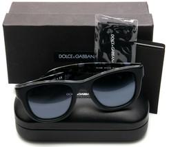 New D&G Dolce&Gabbana DG4284 3073/Y6 Top Black On Camo GREY/GREY Lens Sunglasses - $148.50