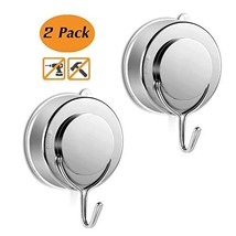 X-Cool Vacuum Suction Cup Hooks Heavy Duty 2 Pack Towel Hook Bath Towel Hanger R