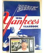 1956 graded WB mickey Mantle baseball card w/1956 yankee yearbook - $652.41