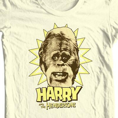 Harry and Hendersons T-shirt retro 80s TV show Sasquatch Big Foot tee NBC296