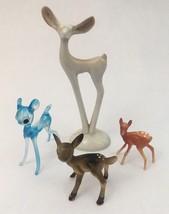 "Vtg MCM Pottery Plastic Glass Deer Figurine unmarked 5.5"" Tall - $23.33"