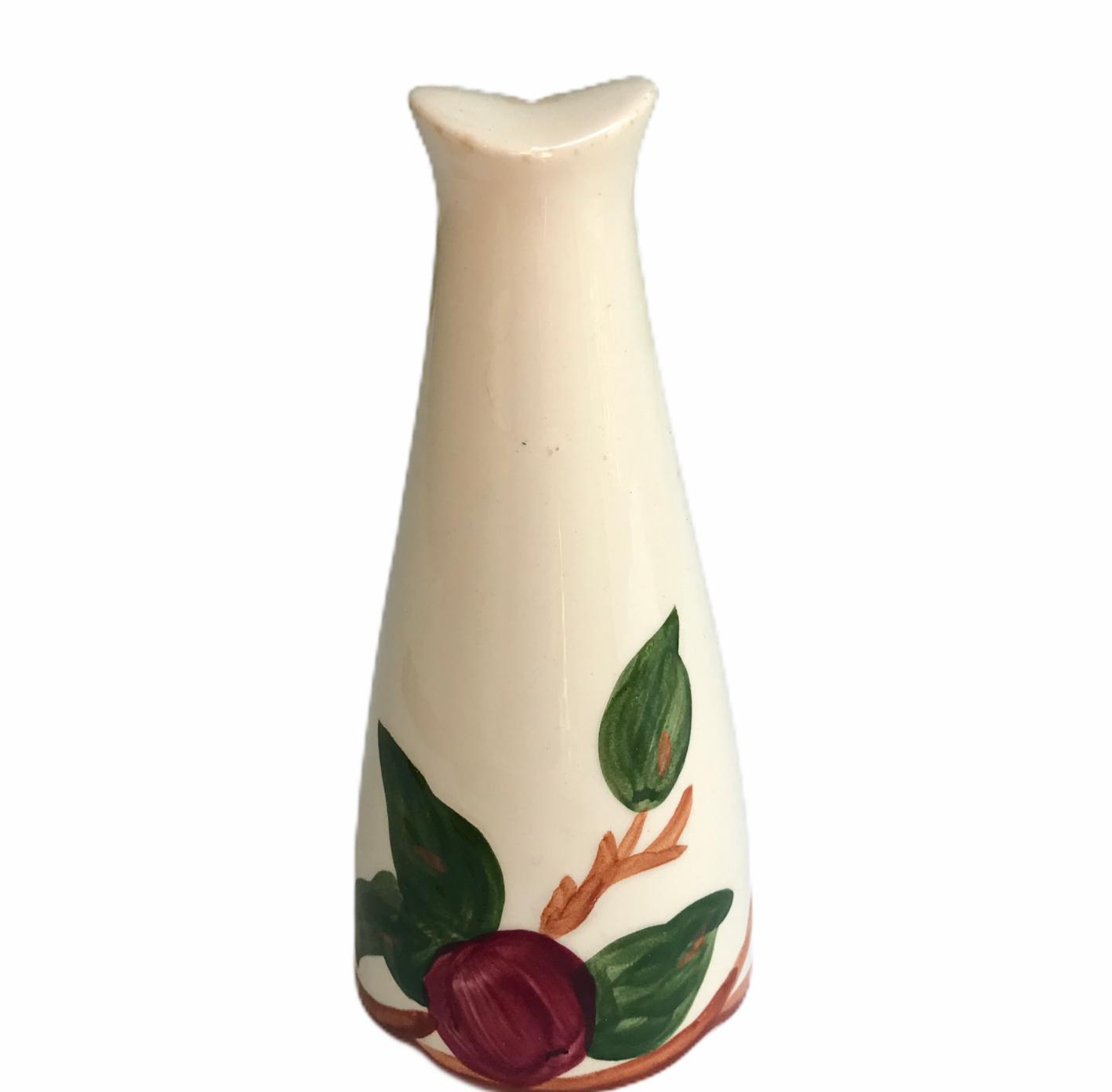 Vintage Franciscan Apple Pattern Single Tall Salt Shaker Made In California USA - $16.68