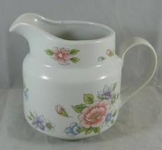 Porcelain Pitcher Decorative Planter Vase Floral Design Flowers FTDA Japan - ₹503.39 INR