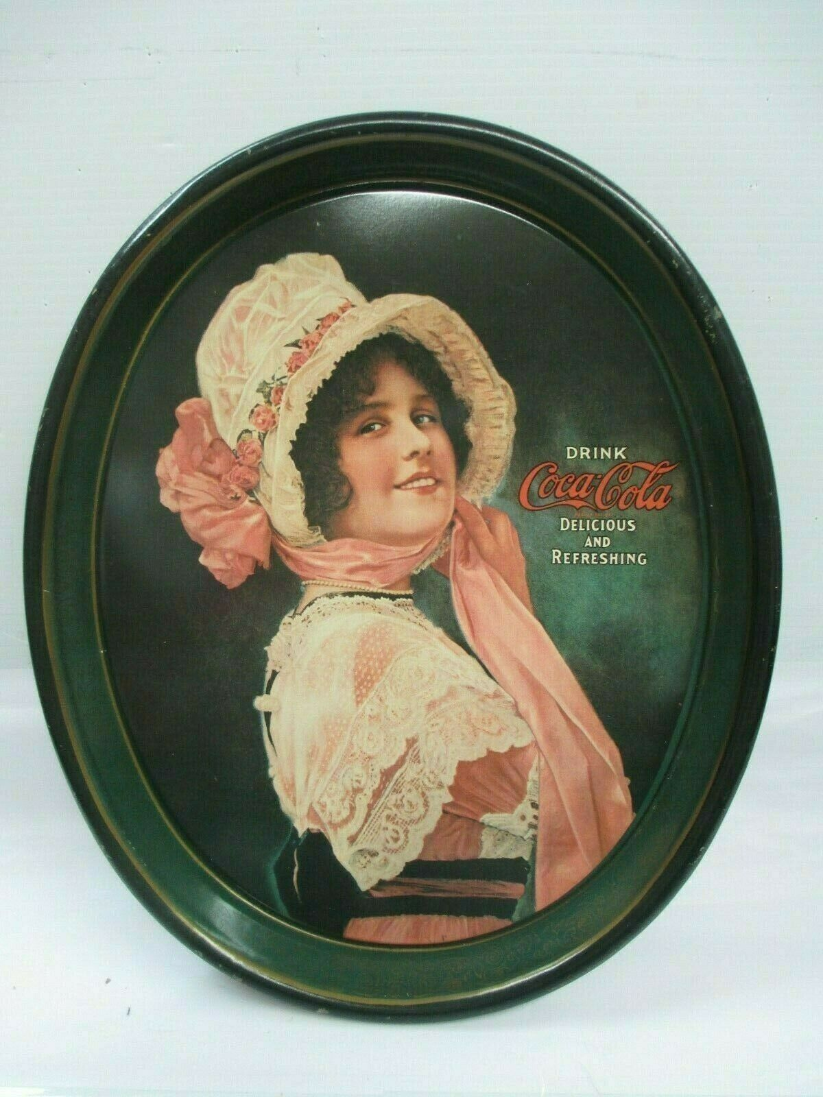 Primary image for Coca-Cola Reproduction Tray 1914 Betty Girl Issued 1972