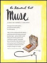 Coty MUSE Perfume Bottle 1949 AD Coty Signature Gift Box Illustrated - $14.99