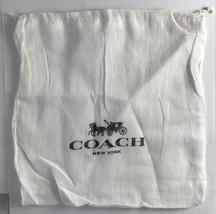 "Lot of 2 COACH Drawstring Dust Bag Covers Storage 8"" x 8"" Cloth - $5.93"