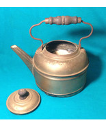 Antique Kettle Copper Bottom EARLY 1900 Rochester NY Tea Coffee Pot Flow... - $23.76
