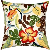 Pillow Decor - Vallarta White Floral Outdoor Throw Pillow 19x19 (WB1-001... - $39.95