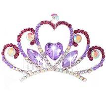 Elegant Love Shape Crown Princess Bride Tiara Comb Inserted image 2