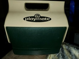 Vintage IGLOO Little Playmate  Cooler 6 Pk. Lunch Box green and beige usa - $21.73