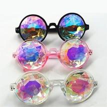 Retro Round Kaleidoscope Sunglasses Men Women Designer Glasses Cosplay G... - $11.99