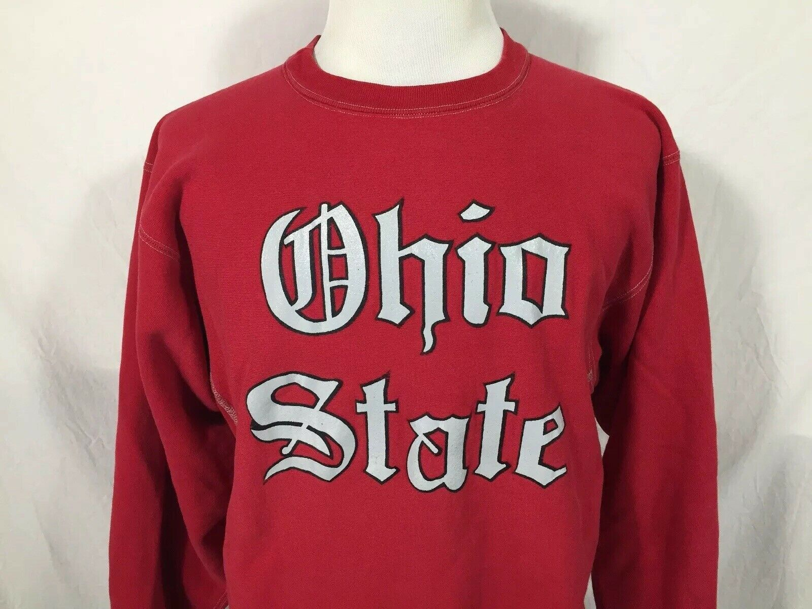 Ohio State University Buckeyes Adult Large Red Sweatshirt Champion Vintage 1990s
