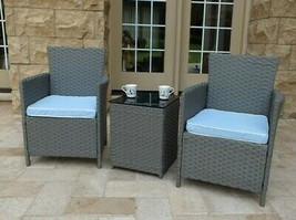 Patio Furniture Clearance Rattan Conversation Set Bistro Outdoor Wicker ... - $195.92