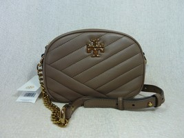 NWT Tory Burch Classic Taupe Kira Chevron Small Camera Bag $358 - $354.42