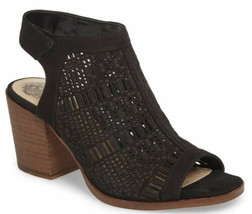Vince Camuto Womens Keannie Leather Laser Cut Dressy Heels Sandals Size 10 NEW - $44.51