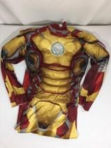 Iron Man Halloween Castume Size For 5-6 Full Body Costume Long Sleeve Bi... - $9.50