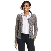 CAbi Ritz Sweater, Size Medium, Gray, Cream, Brown, #3016, NEW - $48.38