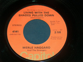 45 RPM Merle Haggard All In The Movies Shades Pulled Down Capitol Record... - $9.28