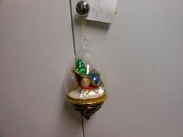"Hallmark Heritage Collection""Santa's Sleigh Dome"" 2018 Blown Glass Ornam... - $67.27"
