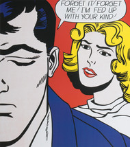 """Roy Lichtenstein """"Forget it! Forget me!"""" HD print on canvas wall picture... - $24.74"""