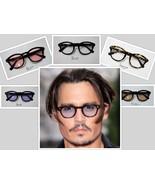 Sunglasses Vintage Johnny Depp Men Frame Retro Clear Tinted Lens Fashion... - $12.45