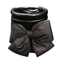 PANDA SUPERSTORE Black [Bow-Knot] Car Cup Holder Phone Holder Storage Bucket Car