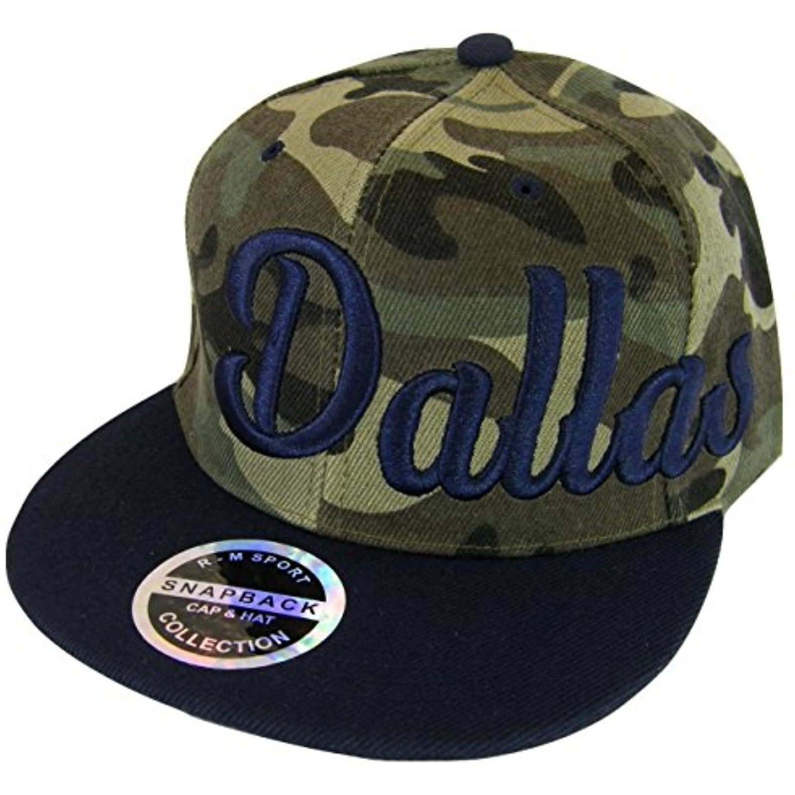 b6e108c0 Dallas Men's Offset Cursive Script Snapback and 50 similar items