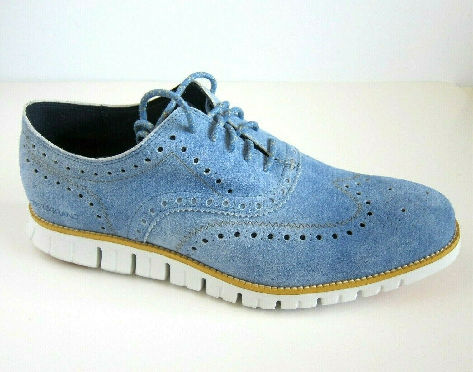 NEW Cole Haan Zerogrand Wingtip Light Denim Blue SZ 12 W 12W