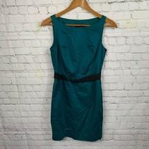 Ann Taylor Women's Teal Dress Casual Shift Dress Lined Sleeveless Size 2P - $22.14