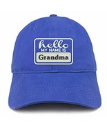 Trendy Apparel Shop Hello My Name is Grandma Soft Crown 100% Brushed Cot... - $18.99
