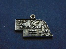 VINTAGE ESTATE  .925 STERLING SILVER NEBRASKA CHARM, 1.4g  E2525 - $14.99