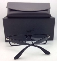 New PERSOL Rx-able Eyeglasses 3144-V 95 49-22 145 Classic Black w/ Sprin... - $219.95