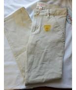 Cat & Jack Girls Sz 16Tan Khaki Oyster Bootcut Uniform Pants Durable Kne... - $12.82