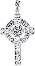 Jewelry Trends Sterling Silver Celtic Trinity Triskele Cross Pendant - $34.99