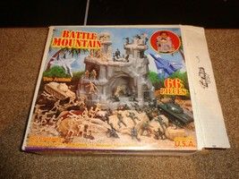 Vintage TimMee Toy Battle Mountain w/ Tanks Planes Soldiers - $33.25