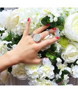 Mayan calendar ring, sterling silver, silver ring, 35 mm, maya, aztec ca... - $130.00